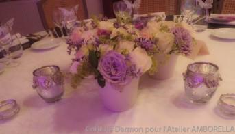 centre de table de mariage romantique chic