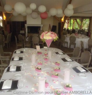vase martini pour centre de table de mariage