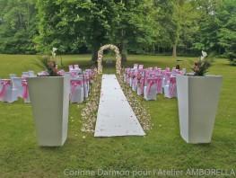 Vue d'ensemble pour la cérémonie laique de ce mariage