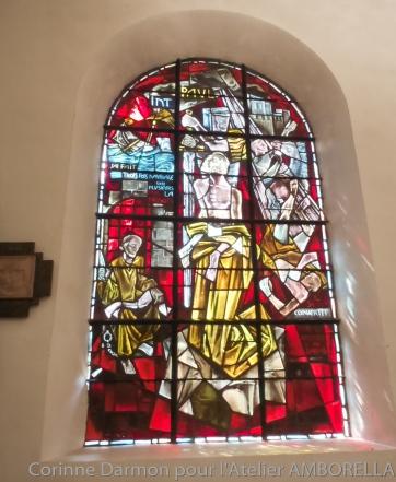 Vitrail de l'église St andré de Chelles lors d'un mariage
